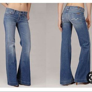 7 for all Mankind Ginger Low Rise Flare Jeans 28